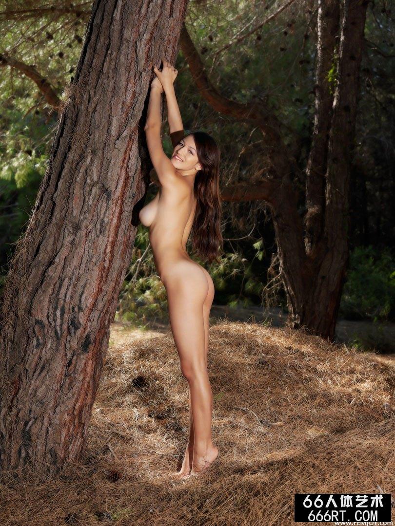 树林外拍珠圆玉润的名模Sofie下