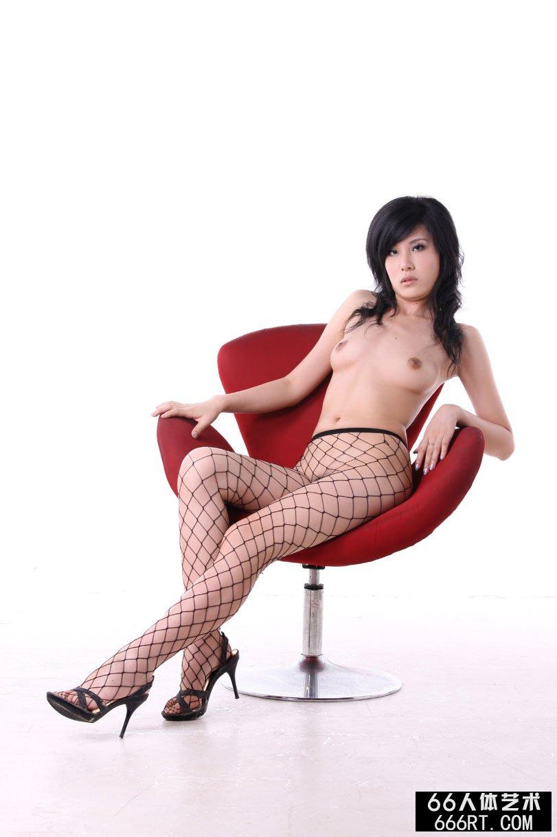 名模晓荷09年7月5日棚拍诱惑网衣人体