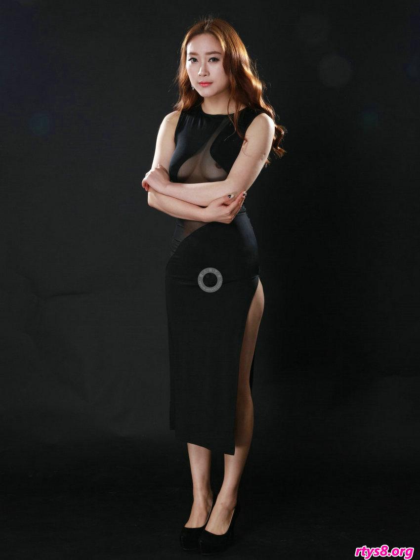 外国人体艺术照全�鹜计�,气质贵妇阿婷黑色透视晚礼服性感十足